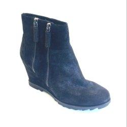 Unisa - støvle med kilehæl i glimmerskind