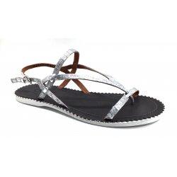 Cashott 15114 sandal i sølv