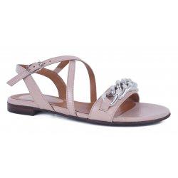 Billi Bi 6104 sandal i nude med sølvkæde