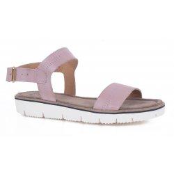 Cashott 19000 sandal i rosa farvet skind med hvide såler