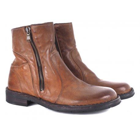f6022750b24 Bubetti 9534 støvle i vasket brun skind