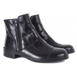 Bubetti støvle i sort bredt flet