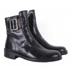 Bubetti - klassisk sort støvle med spænde