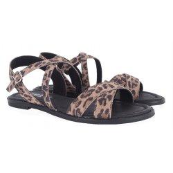 Pavement Marlee sandal med krydsremme i leopard