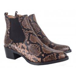 Unisa GREYSON cowboystøvle i slangeskindspræget læder