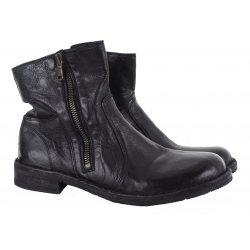Bubetti 9534 vasket støvle i sort skind
