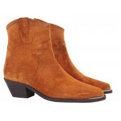 Billi Bi 3704 cowboy støvle i cognac farvet ruskind