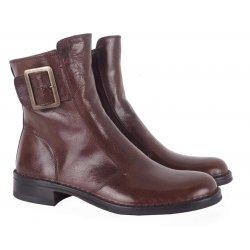 Bubetti 2047 støvle i brun læder med spænde på ydersiden
