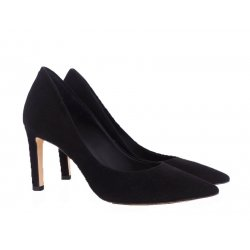 Billi Bi 5092 pumps i sort ruskind