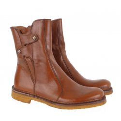 Bubetti 9892 støvle i cognac farvet skind med rågummisåler