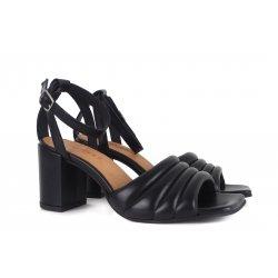 Pavement Berne høj sandal i sort skind