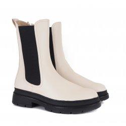 Tamaris 25452 cremefarvet støvle med chunky sål
