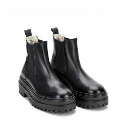 Phenumb CASH støvle i sort skind med uldfoer