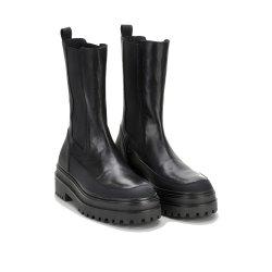 Phenumb Copenhagen Celine støvle i sort skind med chunky såler