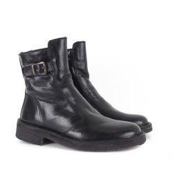 Bubetti 9783 støvle i sort skind med lammepels foer