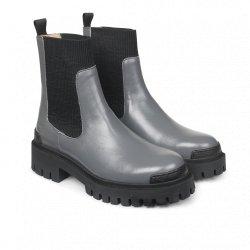 Angulus 7653 ankelstøvle i grå skind med chunky såler